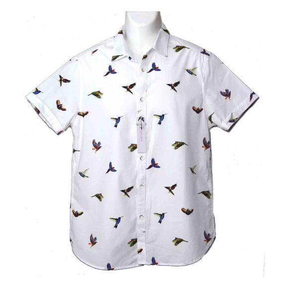 80f16a32a Cactus Man Shirts   Mens Shirt Colorful Birds Size Slim M   Poshmark